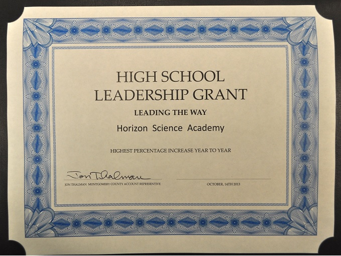 High School Leadership Certificate – Horizon Science Academy Dayton ...
