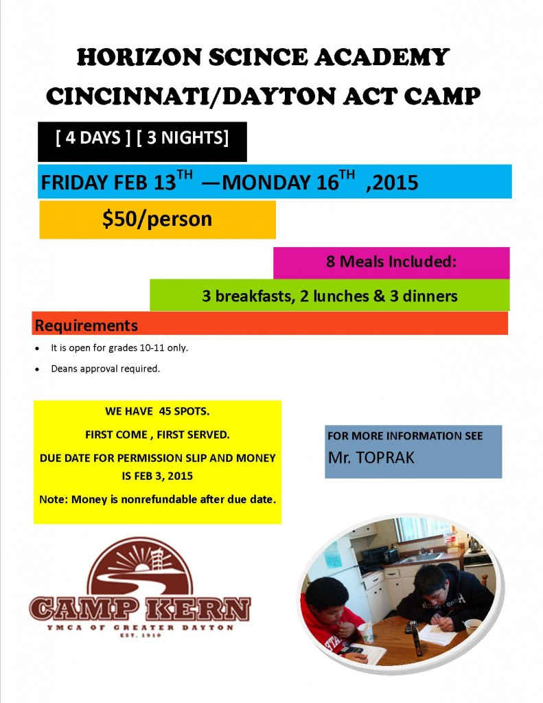 Camp Kern  ACT Camp FLYER